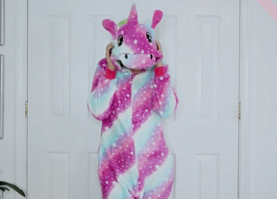 unicorn onesie pajama for teens